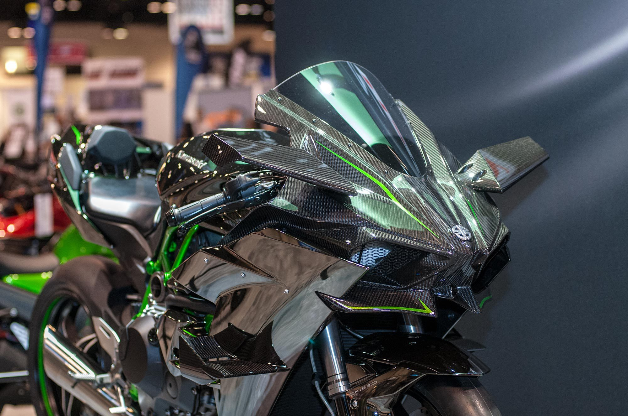 2015 Kawasaki Ninja H2r Front View 3 Photos