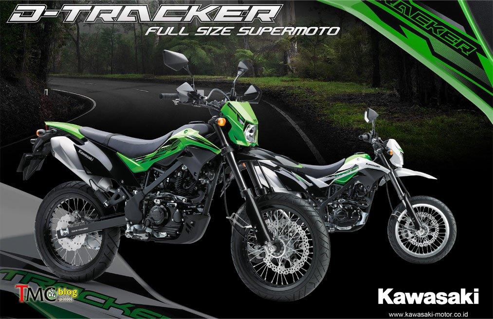 Kawasaki Resmi Merilis New D Tracker 150 Velg 17 Inch