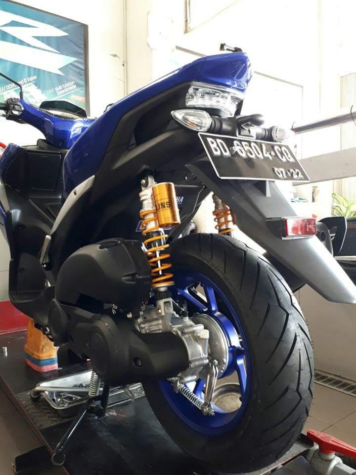 Yamaha Aerox 155 Upgrade Ban Satu Tingkat Menjadi 120/80
