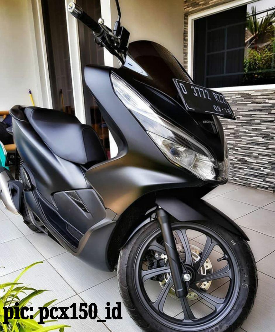 Top Modifikasi Honda Pcx Warna Hitam Modifhits