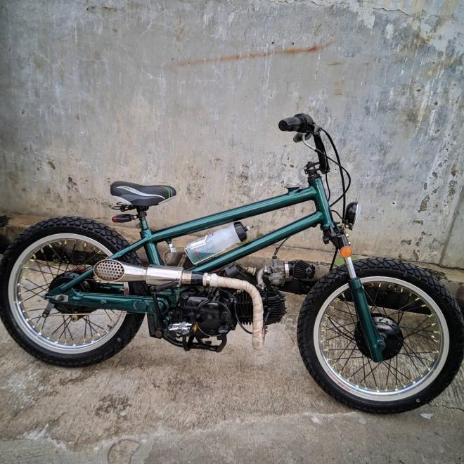 Modifikasi Ketika Sepeda Bmx Berkolaborasi Dengan Honda Legenda2 Anangcozz Blog