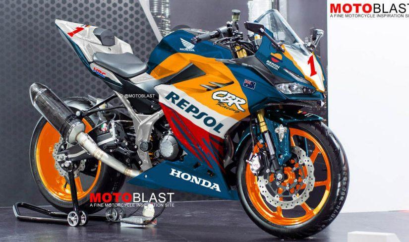 All New CBR150R Livery Repsol NSR500 MotoGP, CakepPool!
