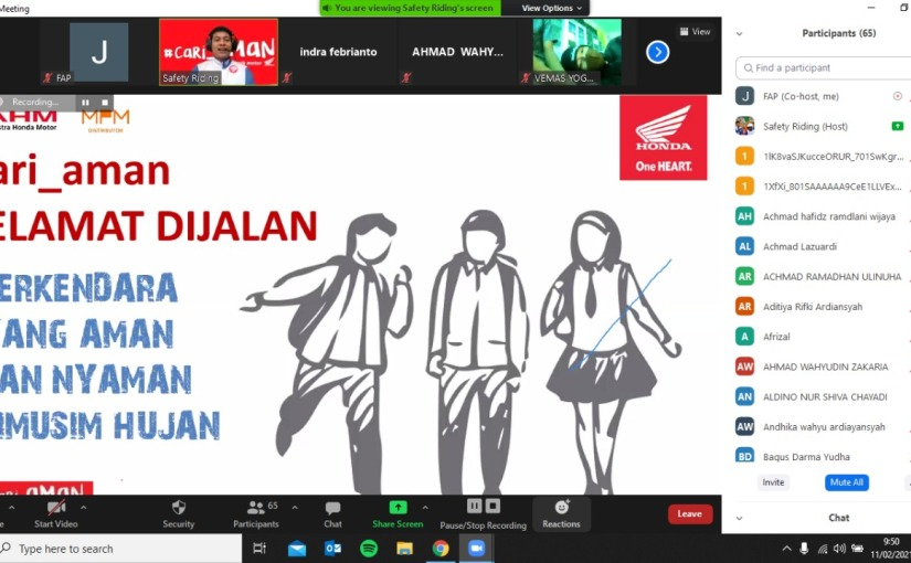 Cari_Aman, 450 Pelajar Ikut Webinar SafetyRiding
