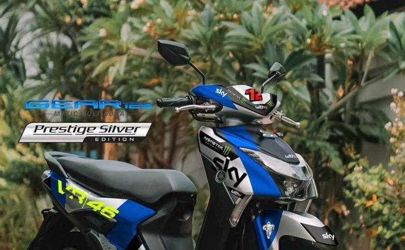 Yamaha Gear 125 Livery Sky Racing VR46, Sangar JugaNih!