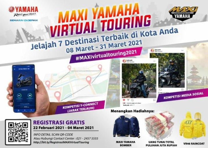 Yamaha Jatim Ajak Konsumen Virtual Touring, HadiahnyaMantuull!