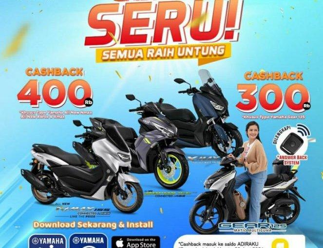 Promo Cashback Setiap Pembelian MotorYamaha