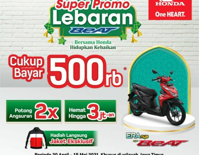Super Promo Lebaran, MPM Honda Jatim Bagikan Diskon Pembelian HondaBeAT