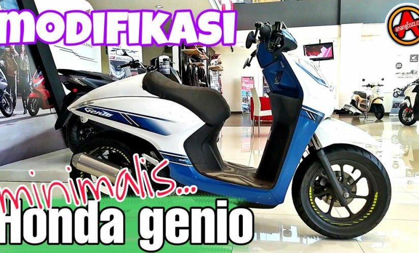 Modifikasi Honda Genio Single Seater Minimalis,Keren!