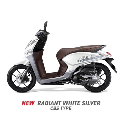 Kepoin Honda Genio 110 Warna Radiant White SilverTerbaru