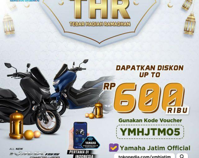 Masih Lebaran, Yamaha Jatim Bagi2THR