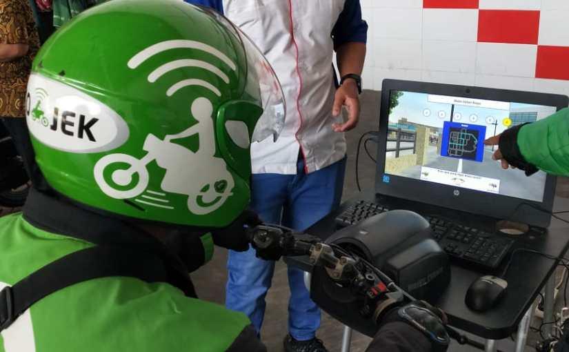 MPM Honda Jatim Berikan Edukasi Safety Riding Kepada PengendaraGojek