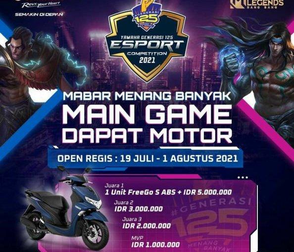Mabar Mobile Legend Dapat Motor di Yamaha Generasi125 E-sportCompetition!