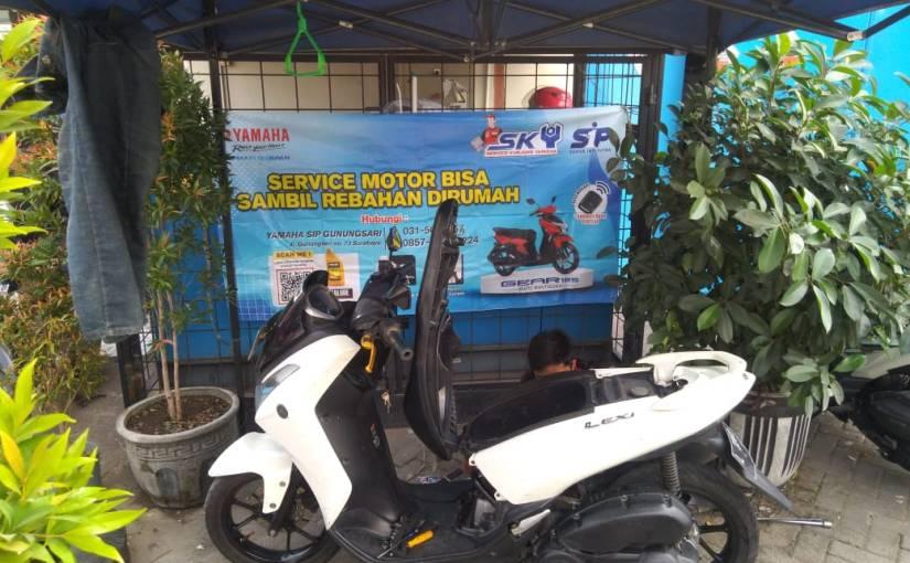 Lagi PPKM, Service Motor Di Rumah Saja AlaSKY!