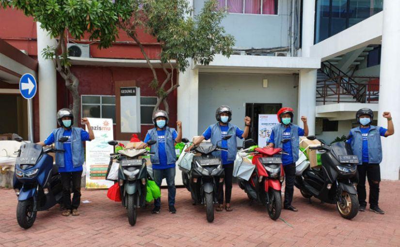 Bersama Universitas Muhammadiyah Surabaya, Yamaha Jatim Mendukung Kegiatan Paket IsolasiMandiri