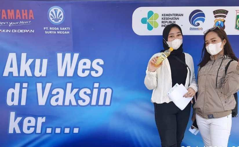 Yamaha Jatim Berikan Paket Hiburan Kepada Peserta Vaksinasi Massal DiMalang